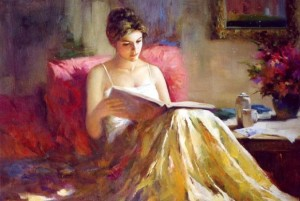 reading impression-lady-another
